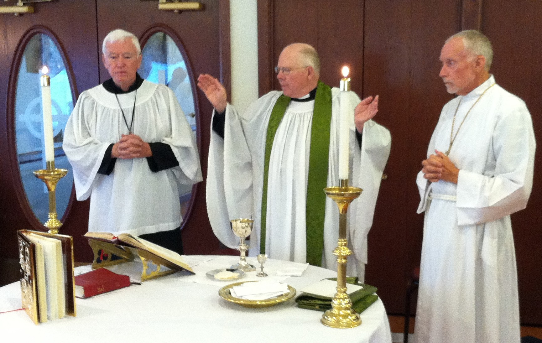 Sunday Service in Parish Hall